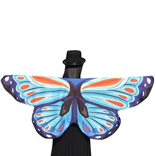 Misaky Soft Egypt Belly Wings Dancing Costume Butterfly Wings Shawl Fairy Pixie Costume (14565CM,