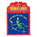 eeBoo Happy Valentine's Day Cards, Set of 32, in Space Friends