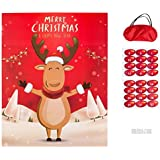 MISS FANTASY Christmas Party Games for Kids Pin The Nose on The Reindeer Games Xmas Activities Christmas Pin Game Xmas…