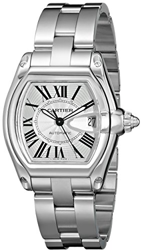 Cartier Men's W62025V3 Roadster Stainless Steel Automatic Watch (Automatic Tonneau Watch)