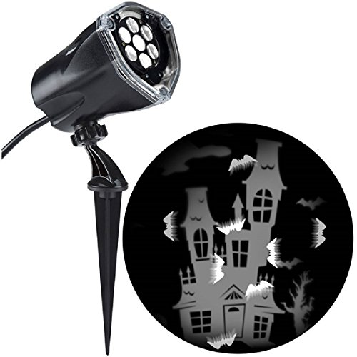 [LED Projection Lightshow Bat Static Creepy House Whirl Motion Lighting Decor] (Shrubbery Halloween Costume)
