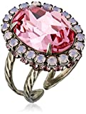 "Sorrelli  ""Sweetheart"" Glamorous Oval-Cut Crystal Ring"