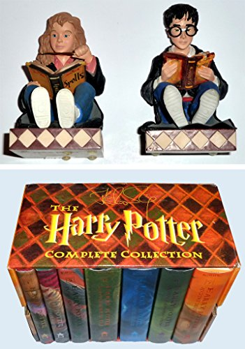 Harry Potter & Hermione Granger Bookend Buddies PLUS Boxed Harry Potter Book Set