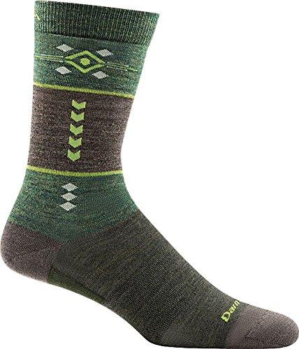 Darn Tough Retro Crew Light Sock - Men's Green Large ()