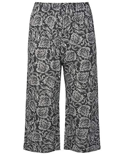 Pantalon Femme Noir Body2body Floral Motif xFw5q0p