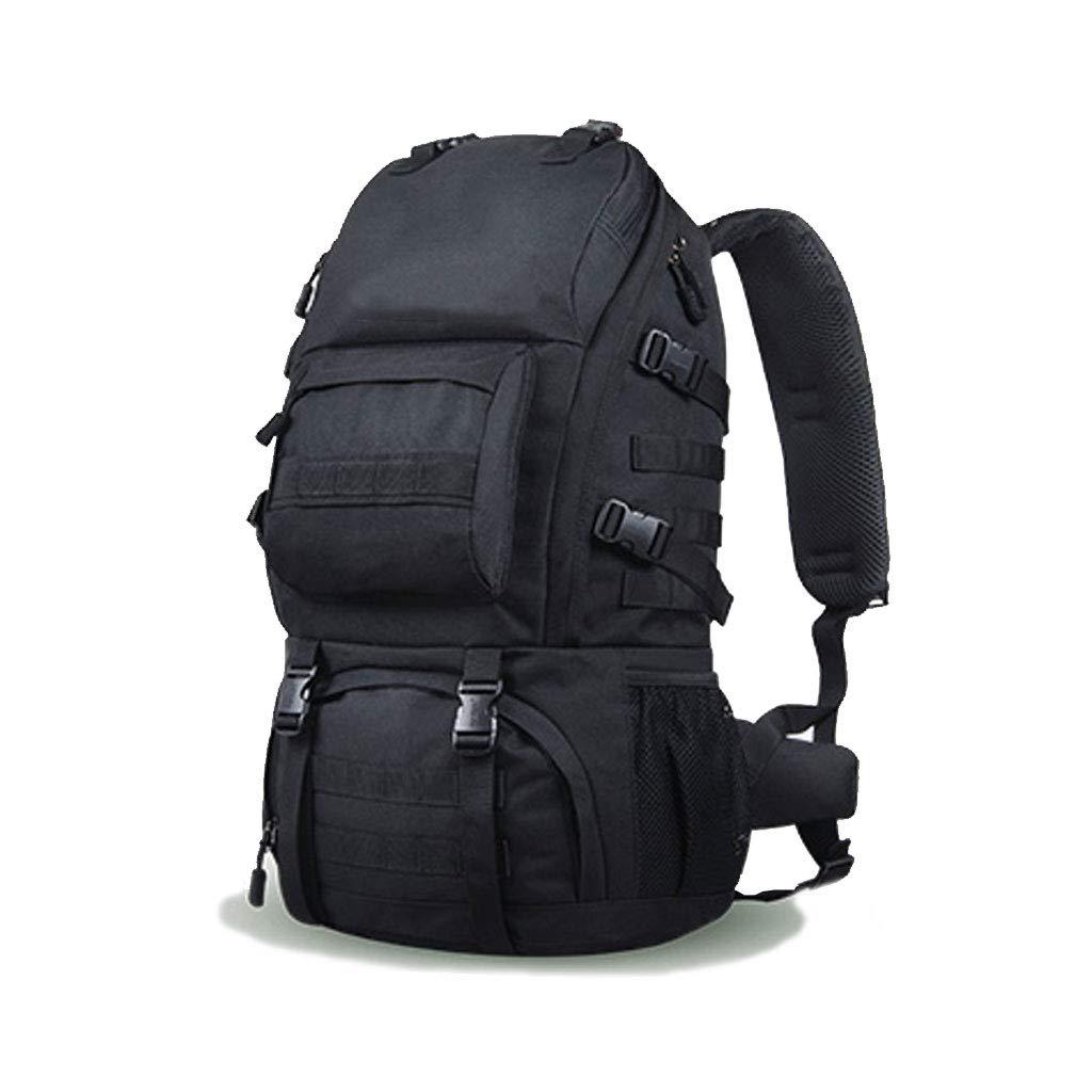 アウトドア登山バッグ男性と女性防水大容量旅行ポータブル荷物バックパックショルダーバッグ  Black B07G6Z89Y8