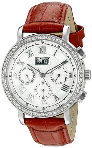 Burgi Women's BUR087RD Analog Display Swiss Quartz Red Watch