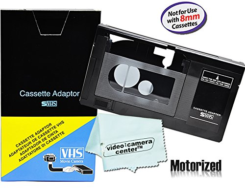 Motorized VHS-C Cassette Adapter For JVC C-P7U CP6BKU C-P6U,Panasonic PV-P1,RCA VCA115 + 1 VCC113 Micro-Fiber Cloth (Ge Adapter Cassette)