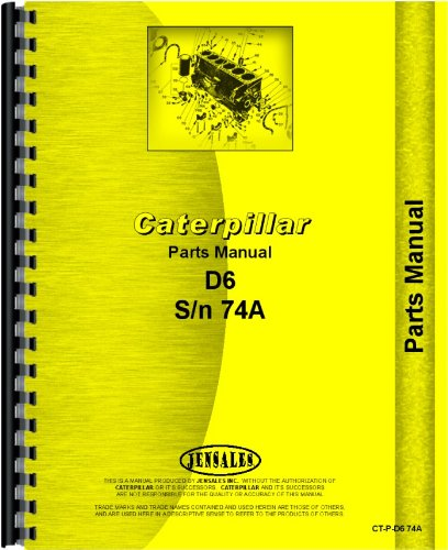 Caterpillar Crawler Parts Manual  Ct P D6 74A