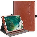Fintie iPad 9.7 2018 2017 iPad Air 2 iPad Air Case - [Corner Protection] Multi-Angle Viewing Folio Cover w Pocket - Auto Wake Sleep for Apple iPad 6th 5th Gen - iPad Air 1 2 - Saddle Brown