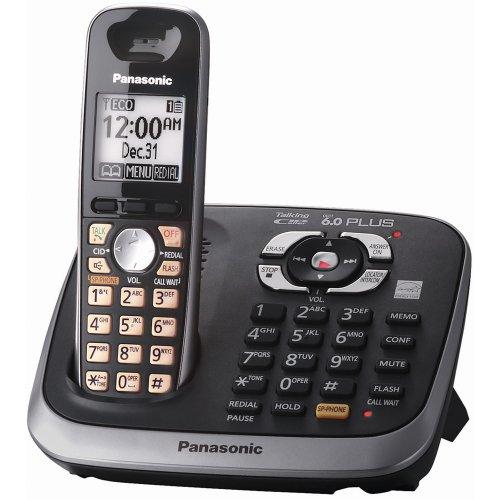 (Panasonic KX-TG6541B DECT 6.0 PLUS Expandable Digital Cordless Answering System)