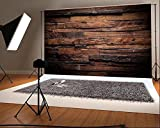 7X5ft Dark Color Wood Backdrops for Photography Brown Vintage Studio Background Children Photo Backdrop without Crease
