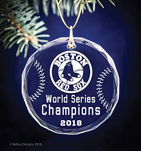 Boston Red Sox World Series Champions 2018 Baseball Themed Keepsake Christmas Circle Ornament