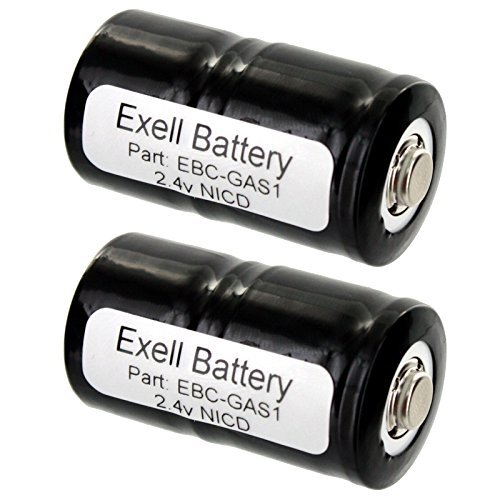 2pk 2.4V Gas Meter Battery for TIF 8800 Combustible Gas Detector FAST USA SHIP by Exell Battery