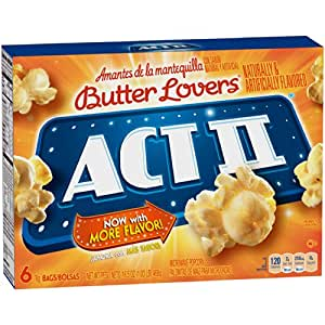 Act II Butter Lovers Popcorn, 1 box of 6 count, 16.5oz