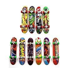 Maikerry Finger Skateboard Mini Skateboard Toys is Professional Fingerboards 10 pcs