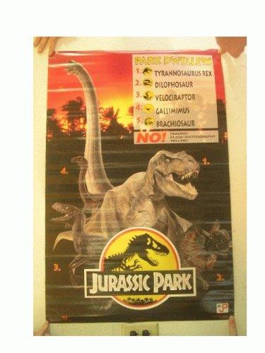 Amazon.com: Jurassic Park Póster Park habitantes cartel ...