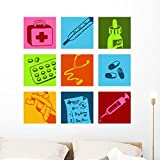 Wallmonkeys Medical Picto Wall Decal Peel and Stick Graphic WM266476 (36 in H x 36 in W)