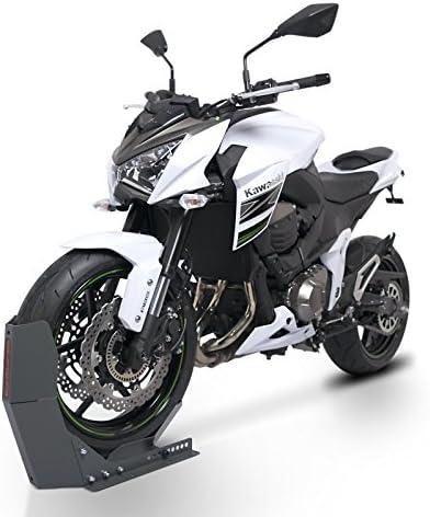 Motorrad Wippe f/ür BMW R 1200 GS Schwarz f/ür Anh/änger Vorderrad Transportst/änder Motocross Roller ConStands Easy Transport Fix