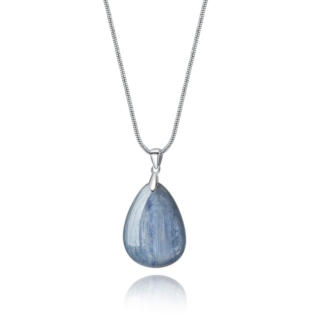 AmorWing Water Drop Shaped Kyanite Chakra Stones Pendant Necklace