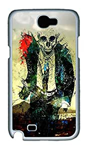Samsung Note 2 Case Skeleton Suit PC Custom Samsung Note 2 Case Cover White