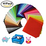Doshop 40pcs 15 x 15 cm Acrylic Felt Soft Non-Woven Fabric DIY Craft Work Sewing Patchwork Color Mix