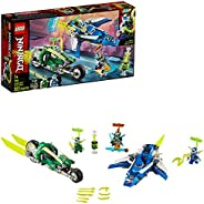 LEGO NINJAGO Jay and Lloyd's Velocity Racers 71709 Building Kit for Kids and Hot Toys, New 2020 (322 Pieces)