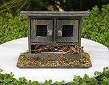 Fairy Garden Figurine Miniature Dollhouse FAIRY GARDEN ~ Wood Double-Door Chicken Coop Bunny Hutch Trimiurti online-store