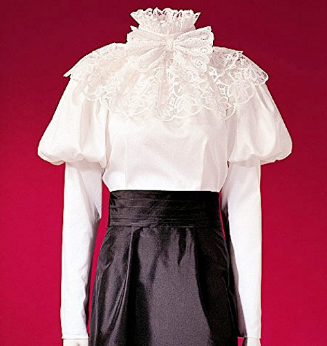 Puff Sleeve Pattern - McCalls Cosplay Ladies Sewing Pattern 2024 Historical Puff Sleeve Blouse, Sash & Collar