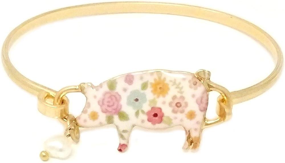 Emulily Floral Pig Bangle...