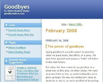 Goodbyes by Debra Bradley Ruder