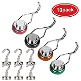 AUTIDEFY 30LB Swivel Swing Powerful Magnetic Hooks,4 Pack Colored Magnetic Swivel Hooks Heavy Duty+ 6 Pack Small Hanging Magnet Hooks 12LB for Your Refrigerator and Other Magnetic Surfaces