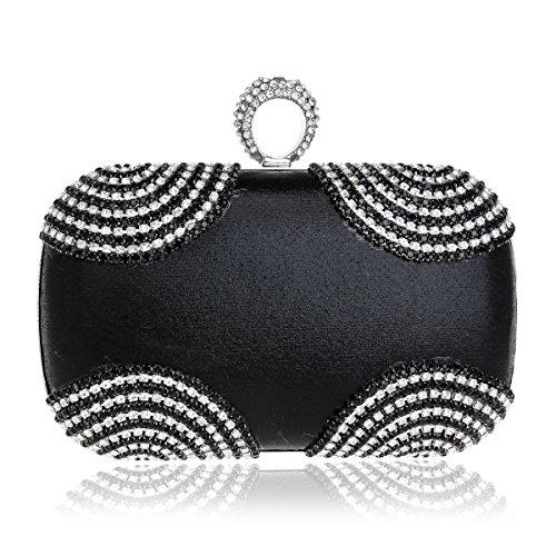 Noche Black Diamante Gold Las Embrague Bolso Por La Magai Del De color Mujeres nFRxzq