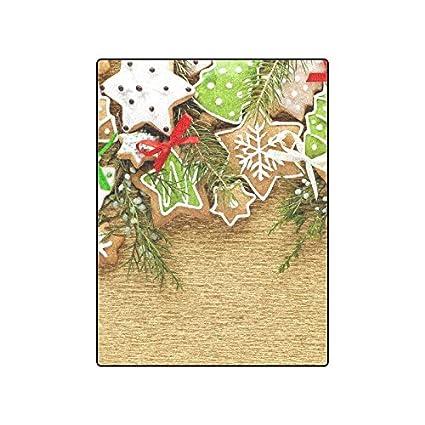 Amazon Com Custom Christmas Cookies Design Blanket Fleece Blanket
