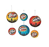 Superhero Paper Lanterns (set of 6)