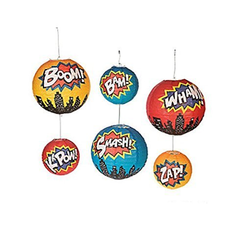 Superhero Paper Lanterns (set of 6) -