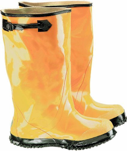 ONGUARD 88070 Rubber Men's Slicker Boots with Cleated Ripple Outsole, 17 Height, Yellow, Size 7 by ONGUARD Industries