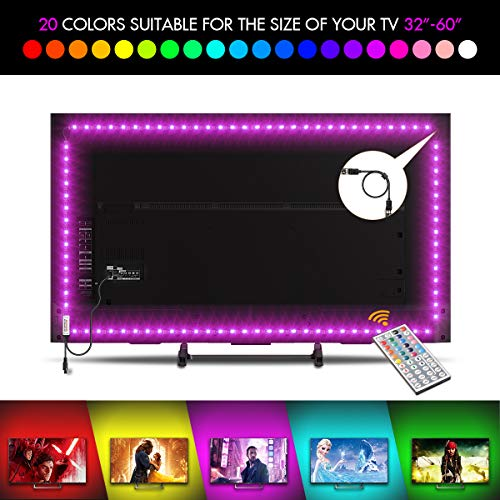 LED TV Backlight LED Backlight Light Flexible Strip Lights USB Bias...