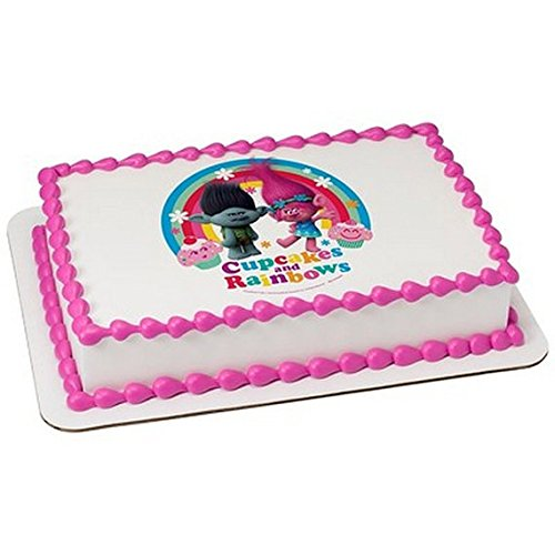 Trolls Licensed Edible Cake Icing Sheet
