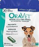 Merial Oravet Dental Hygiene Chew for Medium Dogs (10-24 lbs), Dental Treats for Dogs, 30 Count