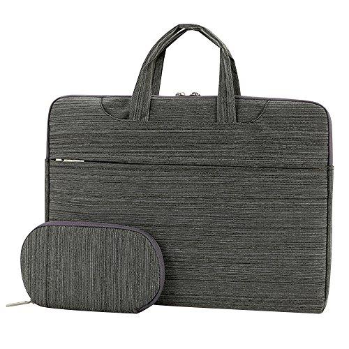 Cuitan 13 13.3 Zoll Wasserdicht Nylon Notebooktasche für Apple MacBook Pro / Apple MacBook Air / Acer Aspire ES1-311 / Asus Zenbook UX305FA, Modisch Laptoptasche Laptophülle Tragetasche Aktentasche Schultertasche Umhängetasche Handtasche mit Power Tasche und Schulter Strap für 13 13.3 Zoll Notebook Ultrabook - Hellgrau