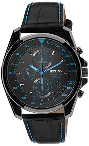 Seiko Chronograph Black Dial Black PVD Stainless Steel - Black Pvd Watch