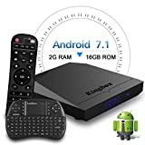 Kyпить Kingbox Android TV Box, K3 Android 7.1 Box with Amlogic S912 Octa-Core 64 Bits 2GB/16GB support Dual WiFi 2.4+5GHz/4K UHD/BT 4.0/1000M LAN Android Smart TV Box, Free Mini Keyboard [Top Configuration] на Amazon.com