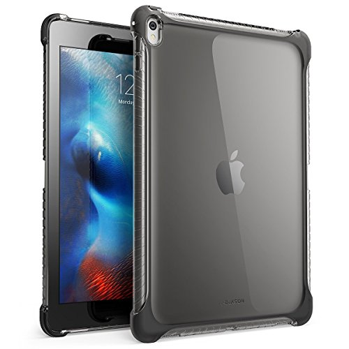 i-Blason Case for iPad Pro 9.7 Inch, iPad Pro 9.7 Cover SoftGel Slim Profile TPU case 2016 Release (Smart Cover Not Compatible, Back Cover Only) (Frost/Black)