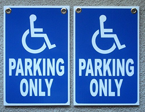 2 Pcs Primo Popular Handicap Parking Only Sign Store Message Yard Outdoor Decal Size 12