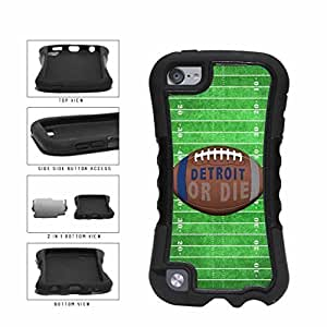 Detroit or Die Football Field 2-Piece Dual Layer Phone Case Back Cover Apple iPod Touch 5th Generation