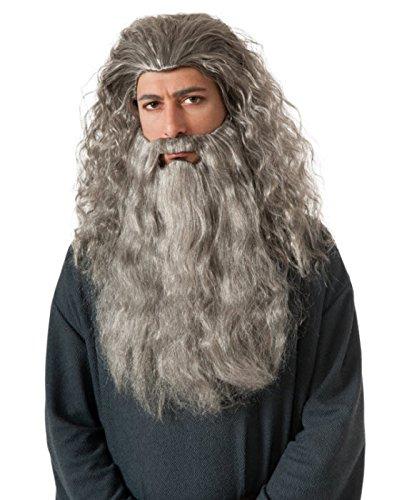 [Rubie's Costume The Hobbit Gandalf Beard Kit, Gray, One Size] (Japanese Beard)