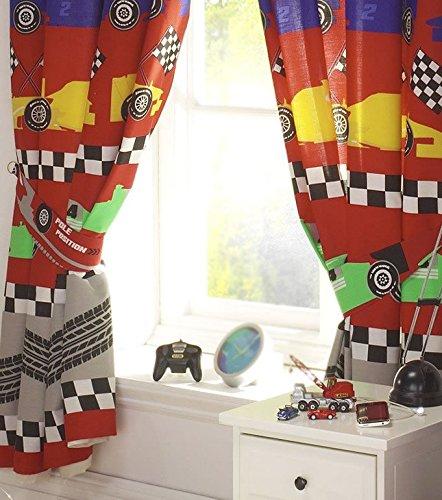 Racing Car Curtains 54s