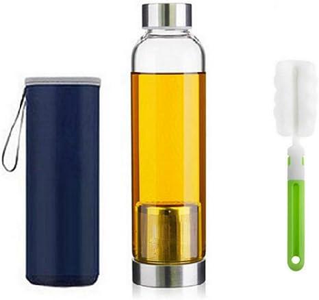 550ml Botella de té de vidrio portátil y con estilo con cesta de ...