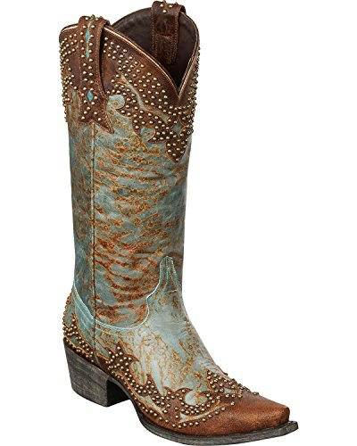 Lane Boots Women's Stephanie Western Boot, Turquoise, 8 M US
